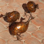 Metal Guinea Fowl, Craft Market, Johannesburg, South Africa, 2008
