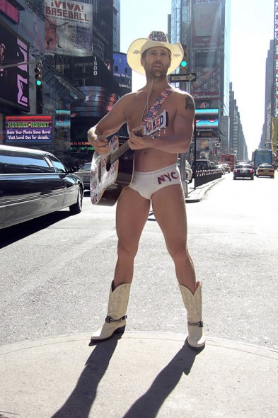Naked Cowboy; Times Square; New York City; 2005