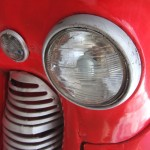 Vintage car headlight detail; Havana; Cuba