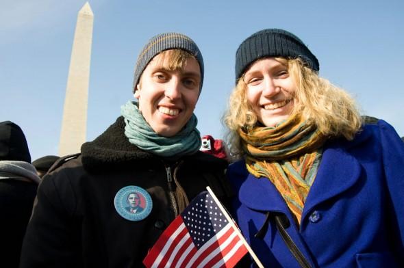 Swedeish couple; Obama inauguration; 2009