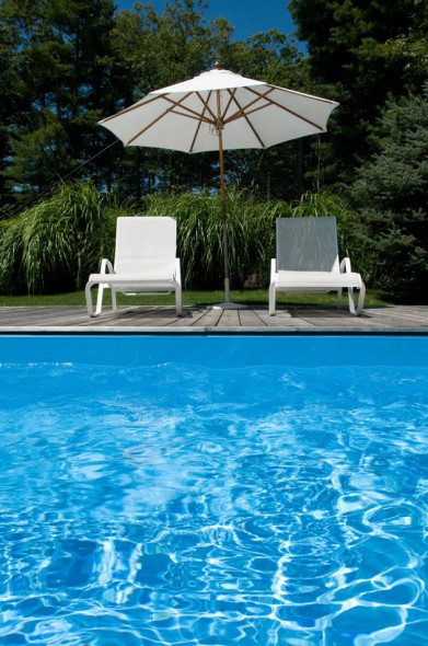 Blue swimming pool; East Hampton; 2008