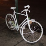 White bicycle; New York