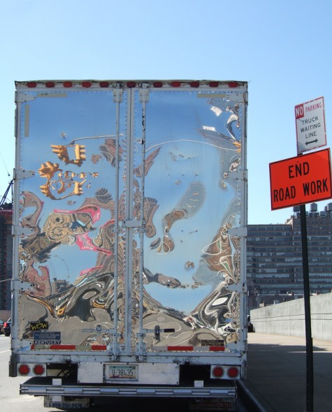 Reflection in Truck, New York, 2008