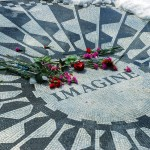 IMAGINE, mosaic, John Lennon, Strawberry Fields, Central Park, New York, winter 2007