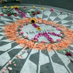 IMAGINE; memorial mosaic, John Lennon, Strawberry Fields, Central Park; New York, 2007