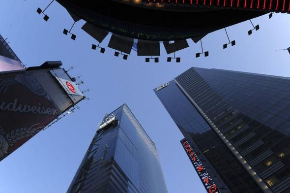 Skyskraper buildings, Times Square, New York, 2009