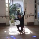 Prima Ballerina, Viengsay Valdes in the ballet studios of the Ballet Nacional du Cuba