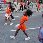 Keeping in step, children march in African American Day Parade, 2008