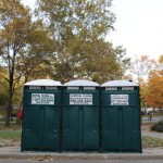 Royal Flush, portable toilets, for marathon, New York, 2009