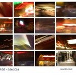 Busride by night, composite light mood photos from bus, New York, 2002
