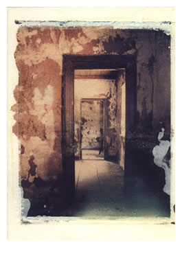 Doors, Polaroid transfer derelict house, Zaneen, South Africa, 2006