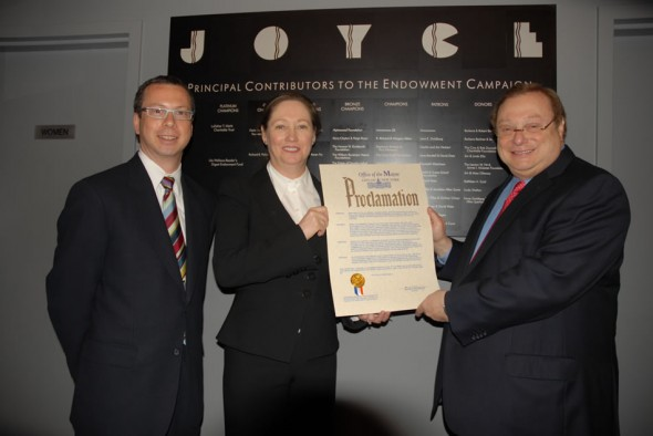 Mayor's Proclaimation for Joyce Theater 25th Anniversary Celebrations