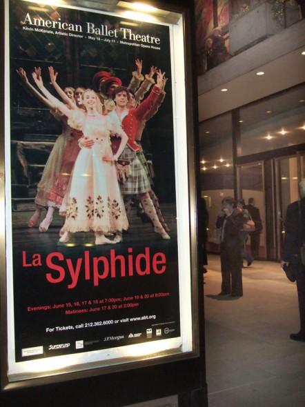 La Sylphide Poster for American Ballet Theatre 2009 season at Metropolitan Opera House