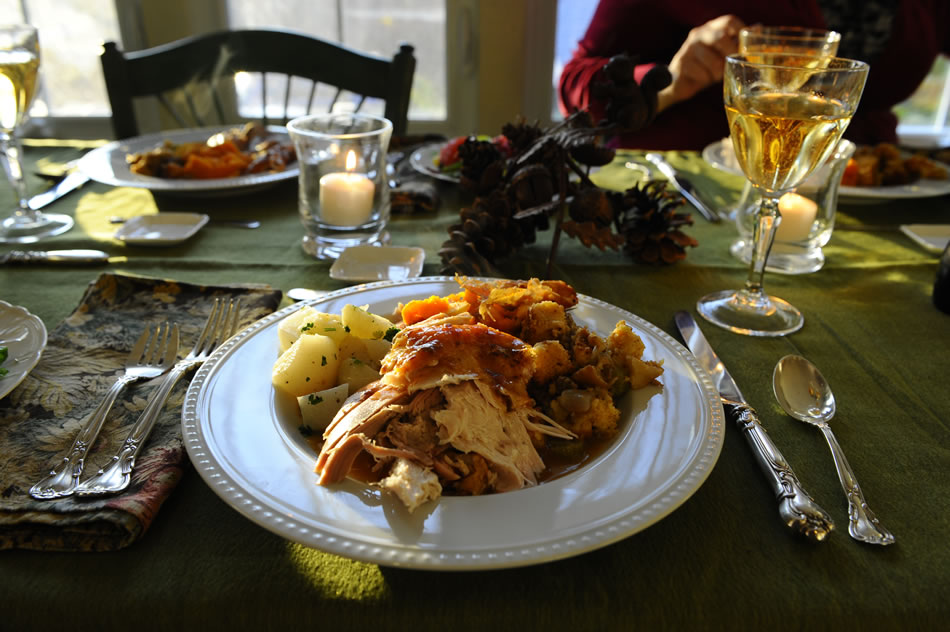 Thanksgiving dinner plate of rost turkey and vegetables New York 2009 & Thanksgiving Turkey Dinner New York 2009 « Fascinations « Nan ...