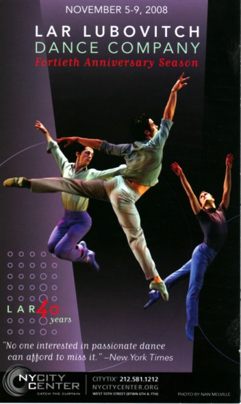 Lar Lubovitch Dance Company, Little Rhapsodies, World Premiere, 2007 NYU Skirball Center for Performing Arts