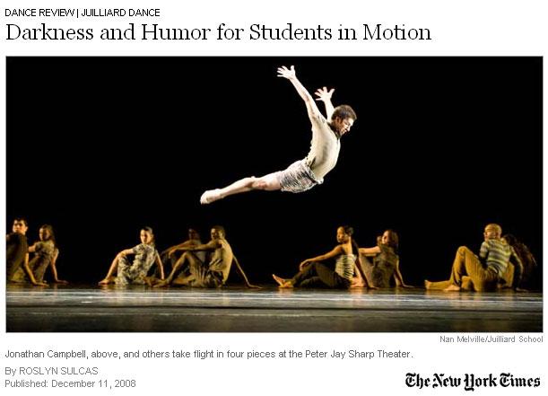 Juilliard New Dances/Edition 2008