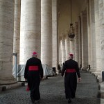 Clergy, Bernini's colonnade, St. Peter's Basilica, Rome, 2006