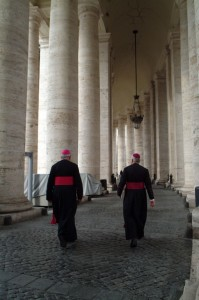 Clergy, Colonnade, St. Peter's Basilica, Rome, 2006