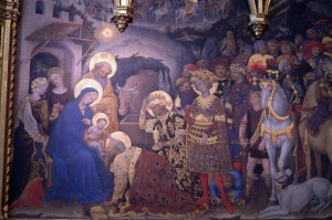Nativity painting, Florence, Italy, 2006