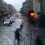 Rainy day, Street scene, Dublin, Ireland, 2003