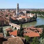 Ponte Pietra over Alige River, Verona, Italy, 2006