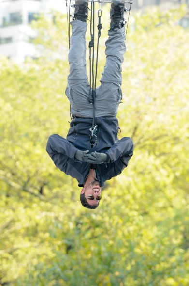 David Blaine; illusionist; Dive of Death stunt; Central Park; New York City; 2008