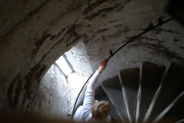 Stairs, Tower House, Bunratty Castle, Ireland, 2003