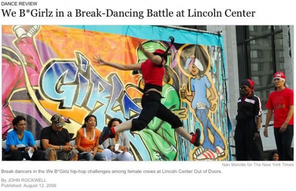 We B*Girlz, Break Dancing, Lincoln Center Out of Doors, New York, 2006
