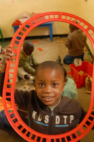 Junior children at Masiphumelele School have good time learning and playing