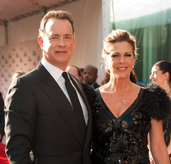 Winner Tom Hanks and wife Rita Wilson at Film Society Gala Tribute, Alice Tully Hall