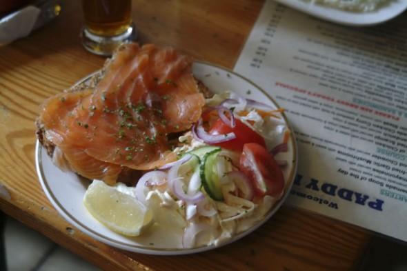 Smoked salmon, Paddy's Pub, Ireland, 2003
