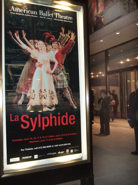 La Sylphide Poster for American Ballet Theatre 2009 season at Metropolitan Opera House
